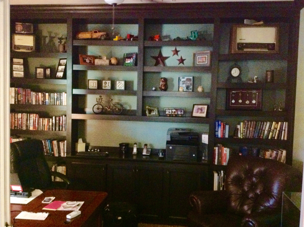 custom office bookcases