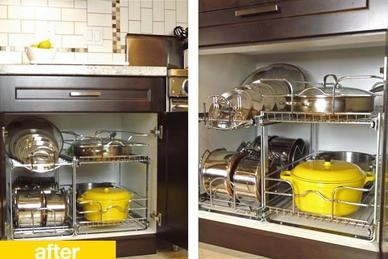 Organization of pots and pans