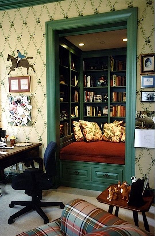 Convert closet into reading nook