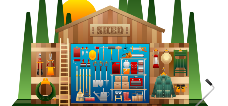 Five Steps to organizing your she-shed